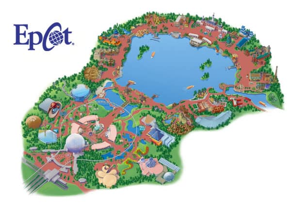 Map of the Epcot