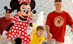 Family with Minnie at Epcot