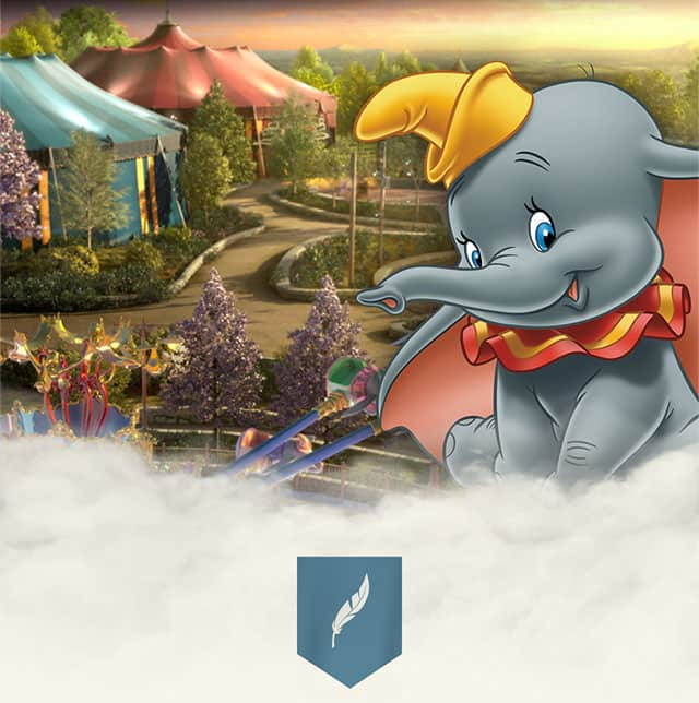 Dumbo the Elephant at Storybook Circus in New Fantasyland at the MagicKingdom.